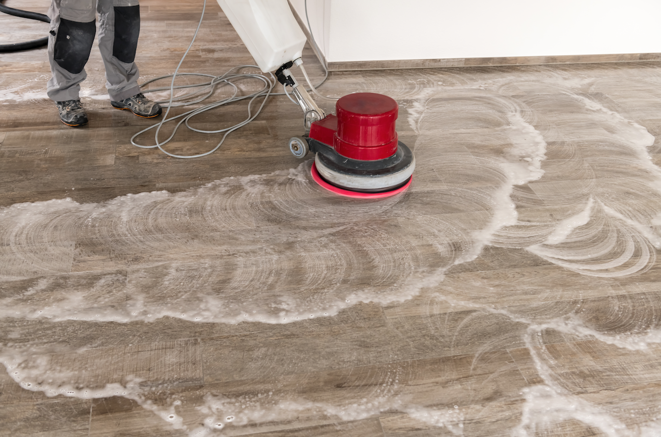 cleaning floors professionally